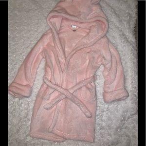 Baby Gap Pink Bear Robe